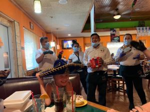 birthday song from our wait staff