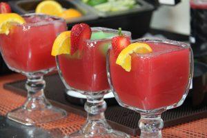 frozen strawberry margaritas for 3