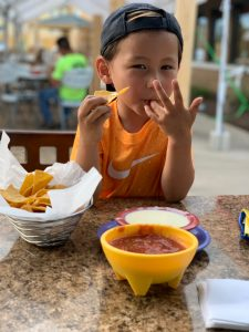Kids love our chips and salsa too