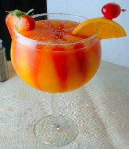 strawberry mango frozen margarita